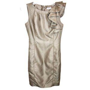 Calvin Klein Shimmery Sleeveless Dress - 4